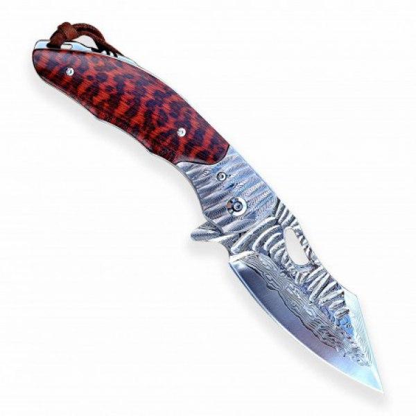 nůž zavírací Dellinger BARACUDA VG-10 damascus