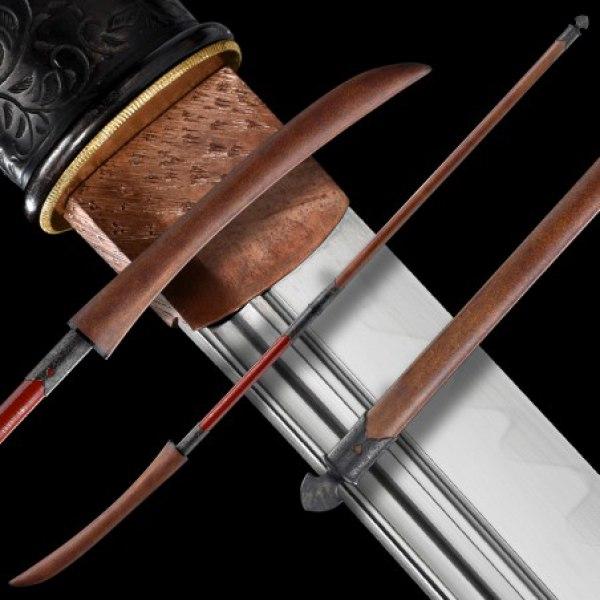 ORENJI Japanese Naginata Sword - T-10 Steel