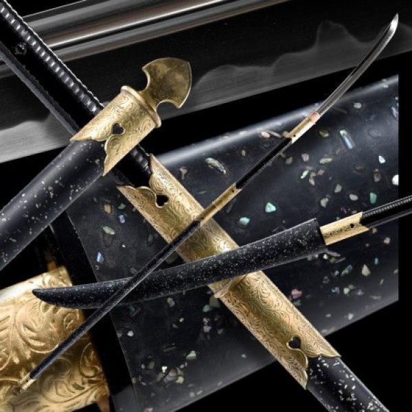 SHERU Japanese Naginata Sword - T-10 Steel