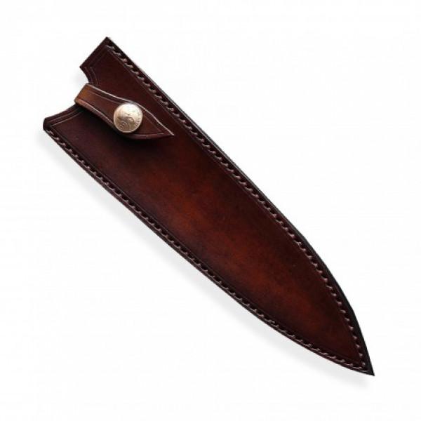 kožená Saya pro nůž Chef 210 mm - Dellinger Octagonal Full Damascus