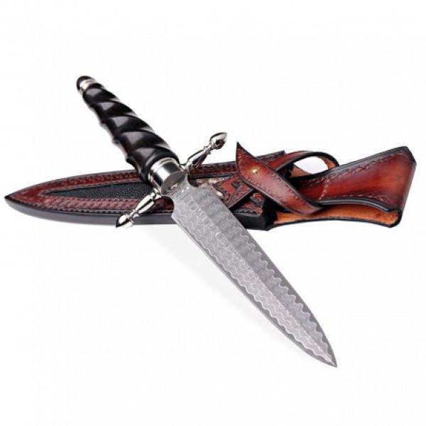 nůž lovecký Dellinger - BAJONETT VG-10 Damascus
