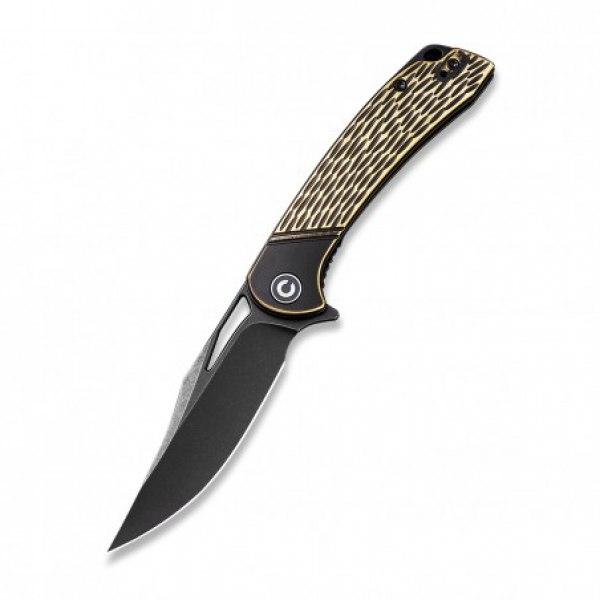 zavírací nůž CIVIVI Dogma C2005E Flipper - mosazná rukojeť