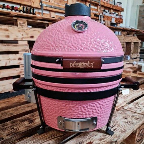 """keramický gril kamado Dellinger Smoke&Fire 16"""" růžový"""