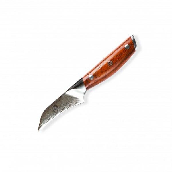 """nůž Paring 3"""" (70mm) Dellinger Rose-Wood Damascus"""