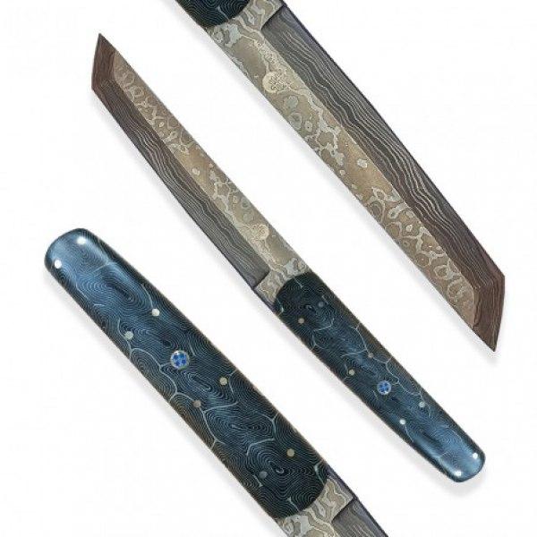 nůž Dellinger Damask Tanto Fingerprint