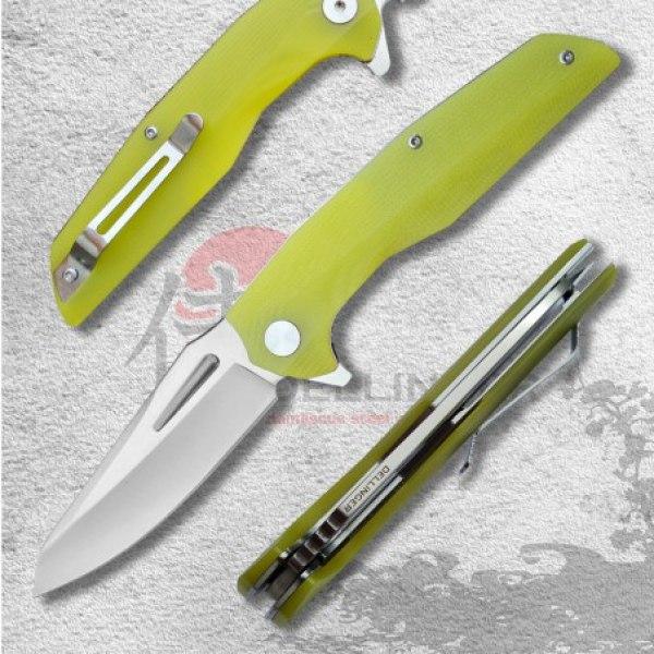 nůž zavírací Dellinger Coyotte Flipper - GREEN 8Cr14MoV