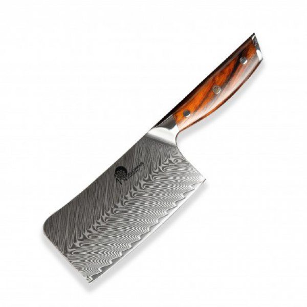 čínský nůž (Cleaver) 165 mm - Dellinger Rose-Wood Damascus