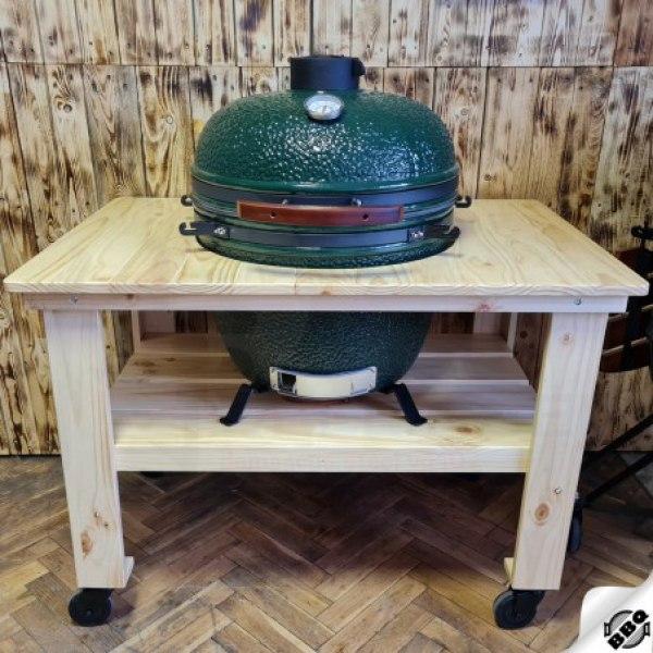 dřevěný borovicový stůl pro keramický gril kamado 23