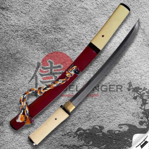 japanese tanto Jūken & Folded Steel 1075 & Real Choji Hamon