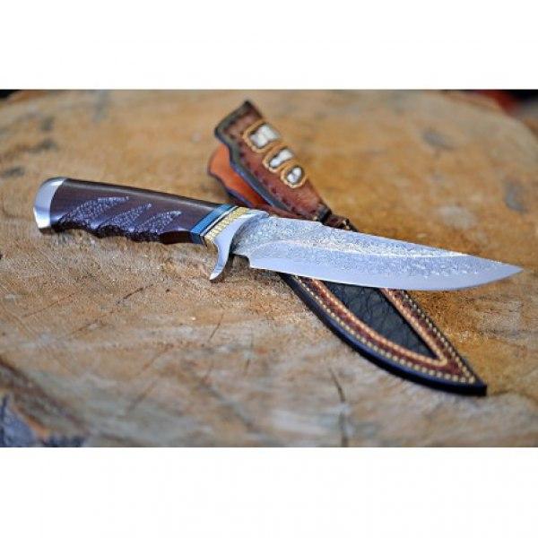 BAZAR nůž lovecký Dellinger LANZEN VG-10 Damascus