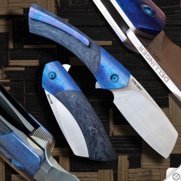 zavírací nůž DELLINGER Melting Rain CPM S90V Flipper