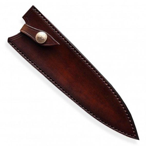 kožená Saya pro nůž Chef 240 mm - Dellinger Octagonal Full Damascus