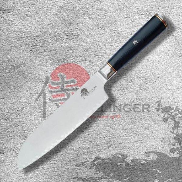 """Japonský kuchařský nůž Santoku 7"""" (180mm) Dellinger Okami 3 layers AUS10"""