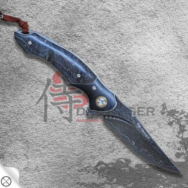 nůž zavírací Dellinger PAIKU Black Coating VG-10 Damascus